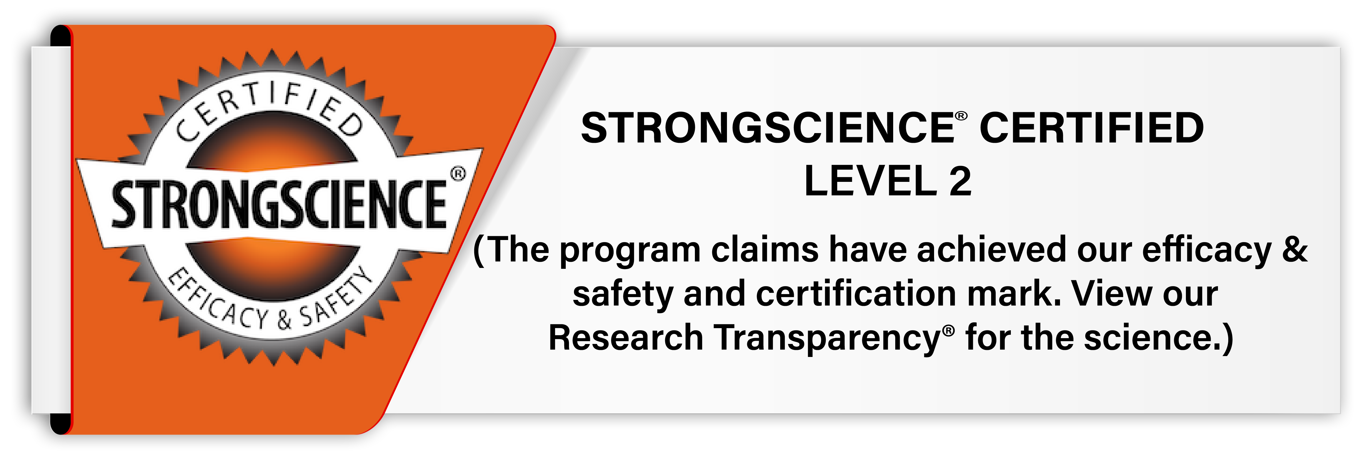strong science certification badge